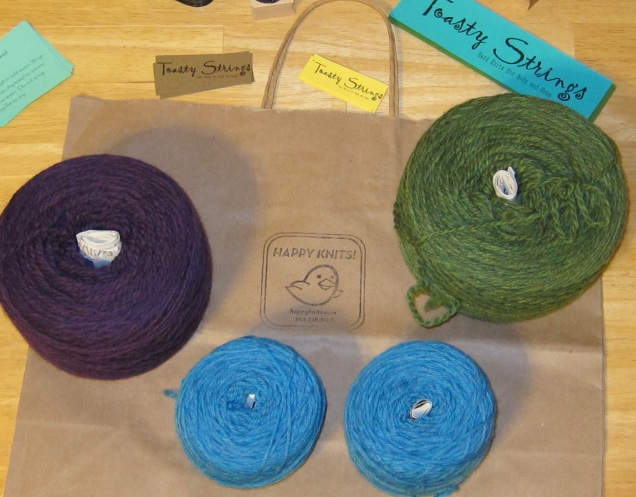 Lovely colors of Cascade Yarns from Happy Knits.